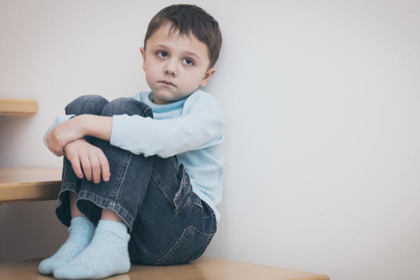 smutny kluk